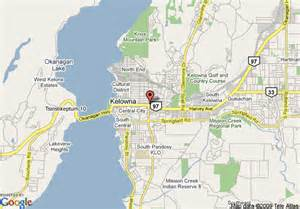 map of accent inns kelowna kelowna
