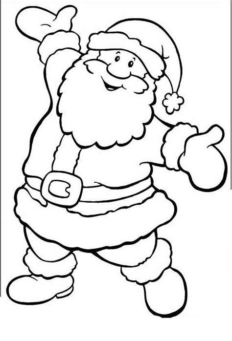 imagenes de santa claus para colorear dibujos de navidad de papa noel faciles buscar con