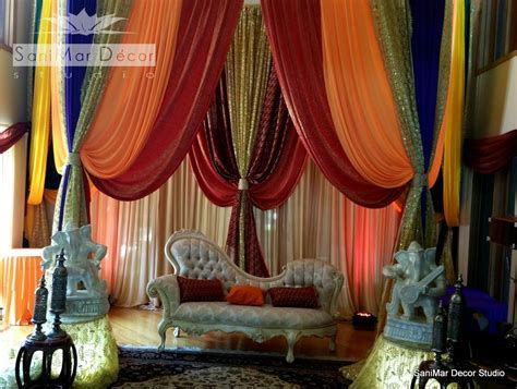South Asian wedding decor