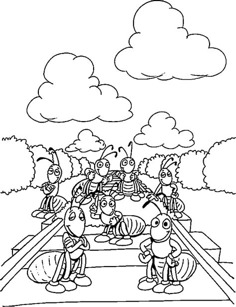 free coloring pages of ant farm