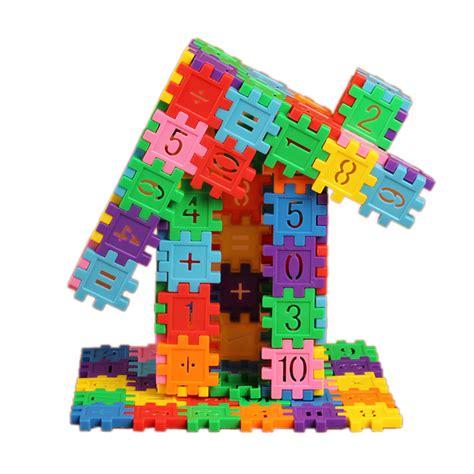 Pisau Set 5 Pcs With Plastic Block aliexpress buy 80pcs set colorful plastic building blocks with number pattern dual