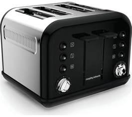 Black Toaster Buy Morphy Richards Accents 242031 4 Slice Toaster Black