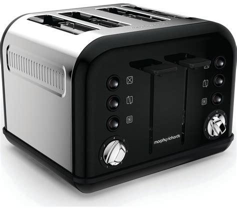 Black 4 Toaster Buy Morphy Richards Accents 242031 4 Slice Toaster Black