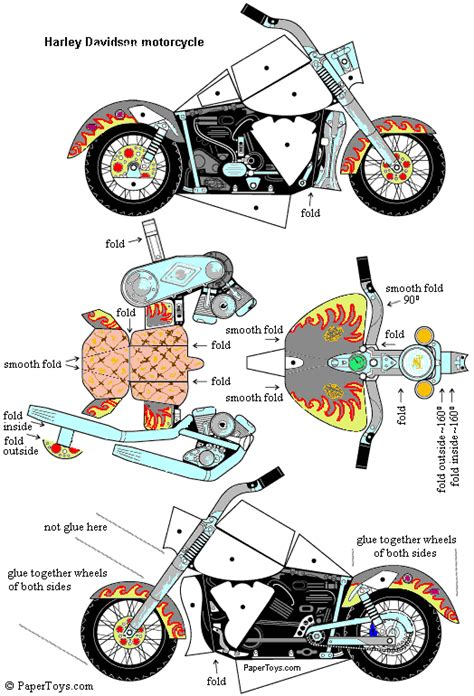 How To Make A Bike Out Of Paper - harley basteln