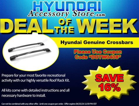 Accessory Of The Week by Hyundaiaccessorystore S Deal Of The Week 04 08 14 04 15 14