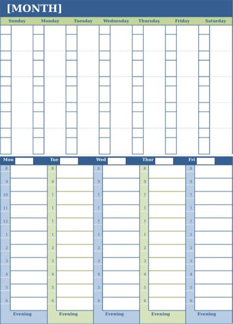 monthly planning calendar template monthly calendar template for excel pdf and word