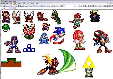 Personnages De Jeux by Des Personnages De Jeux Vid 233 O Sous Excel