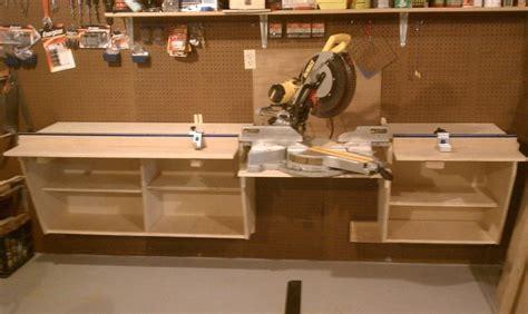 miter saw bench design miter saw station workshop mitersaw pinterest