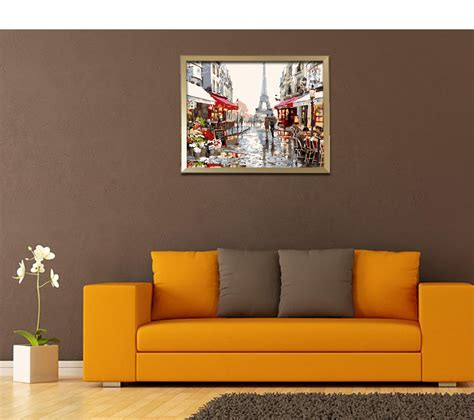 home decor dropshippers dropship urban landscape digital oil hand painting wall