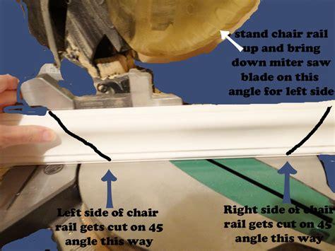 how to cope chair rail chair rail miter cuts ldnmen