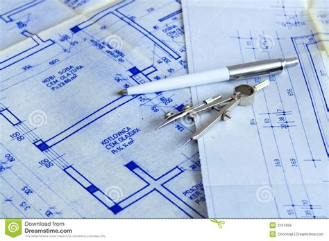 blueprint tool blueprints with tools royalty free stock images image