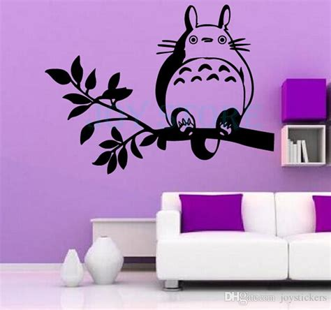 Totoro Home Decor Anime Totoro On The Tree Branch Wall Sticker Decal Home Decor Stickers Decor Stickers For