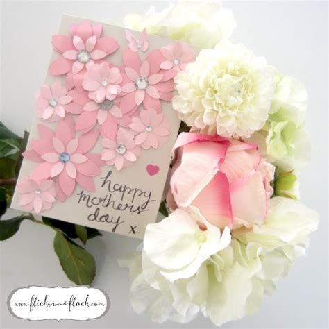 Diy Flower Card Template by Diy Paper Flower Card Freebie Template Flicker Flock