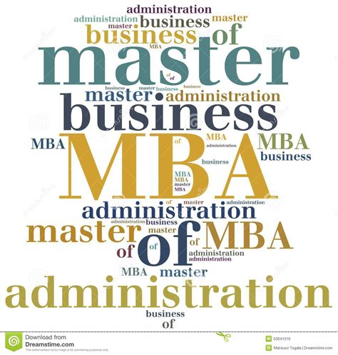 Of New Master Mba Magament by Mba Master Of Business Administration Stock Illustration