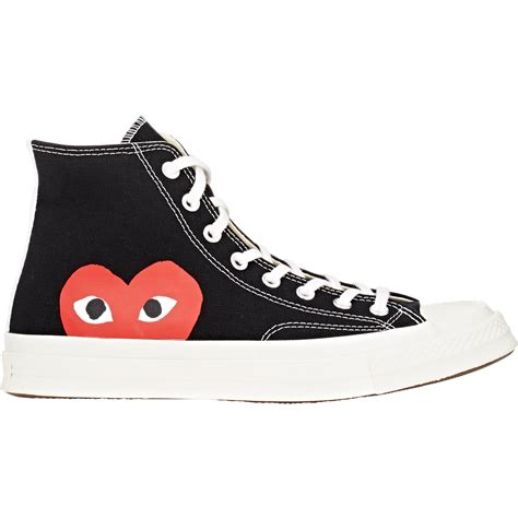 comme des garcons mens sneakers play comme des gar 231 ons play chuck all canvas