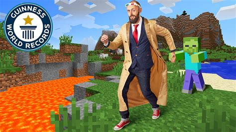 World Records Journey In Minecraft Kurt J Mac Guinness World Records