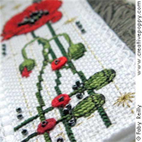printable poppy bookmark faby reilly poppy bookmark and key ring cross stitch