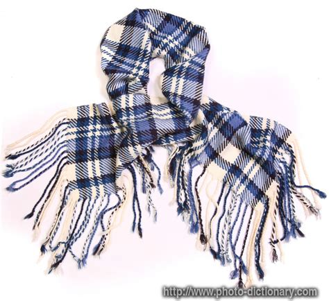checkered scarf photo picture definition at photo