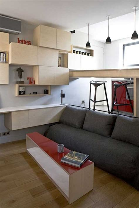 How Large Is 130 Square Feet | 130 square foot micro apartment in paris big tricks in a