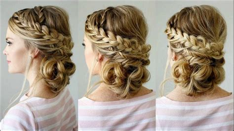 braid hairstyles at home messy updo with braids is cute hairstyle steps to make at