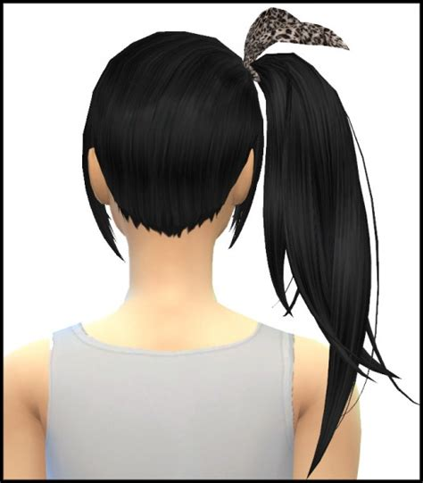 sims 4 hairs butterflysims side ponytail hair 164 sims 4 hairs simista kijiko side ponytail hairstyle