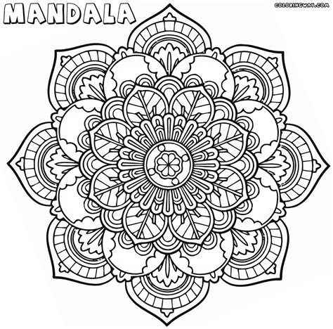 mandala coloring page intricate mandala coloring pages coloring pages to