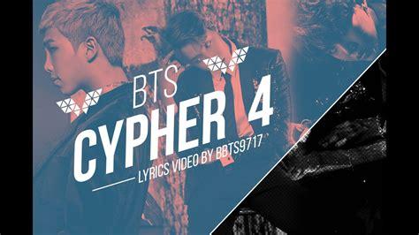 bts cypher pt 4 lyrics bts rap line cypher pt 4 lyrics eng kor youtube