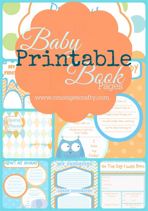 9 best images of printable baby book templates free