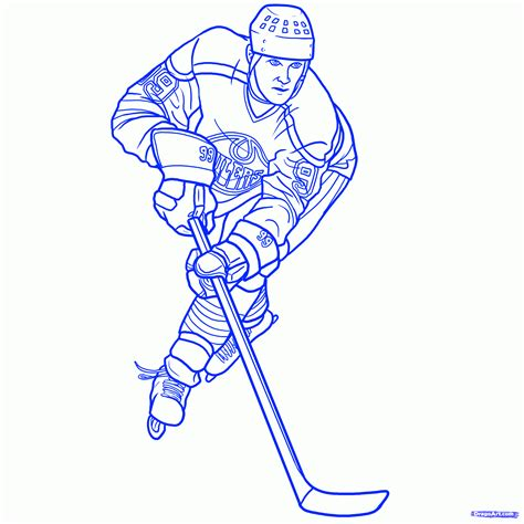 how ro draw how to draw wayne gretzky step by step sports pop