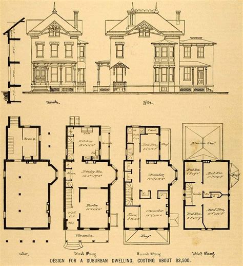 Old Victorian House Floor Plans Fantastic Floorplans Large Vintage House Plans