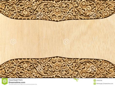 pattern of wood frame carved flower carved frame stock photos image 24930783