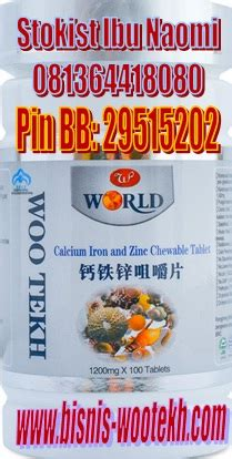 Woo Tekh Calcium Iron And Zinc Chewable Tablet Wootekh woo tekh indonesia 187 fungsi herbal calcium iron and zinc chewable tablet