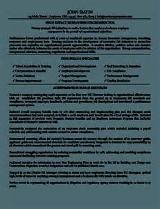 human resource management resume exles sles of resumes