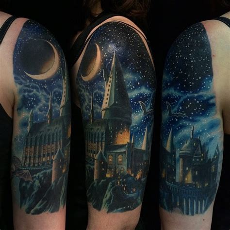 hogwarts castle tattoo 105 harry potter designs meanings specially