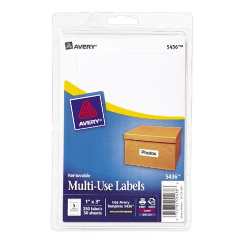 printable labels 1 x 3 avery removable print write labels 1 x 3 inches white