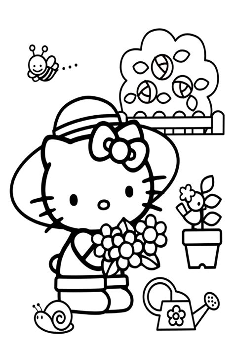 coloring pages of lots of flowers hello kitty coloring pages overview with a lot of kitties
