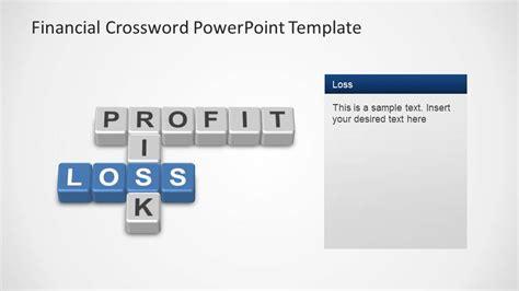 financial powerpoint template financial crossword powerpoint template loss slidemodel
