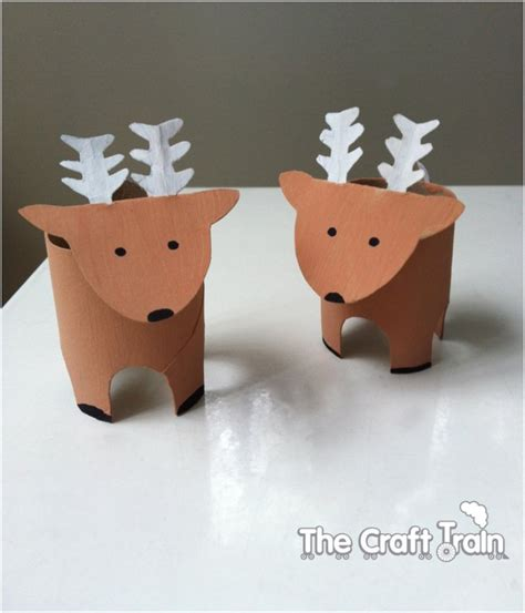 How To Make Paper Reindeer - 20 festive diy crafts from toilet paper rolls