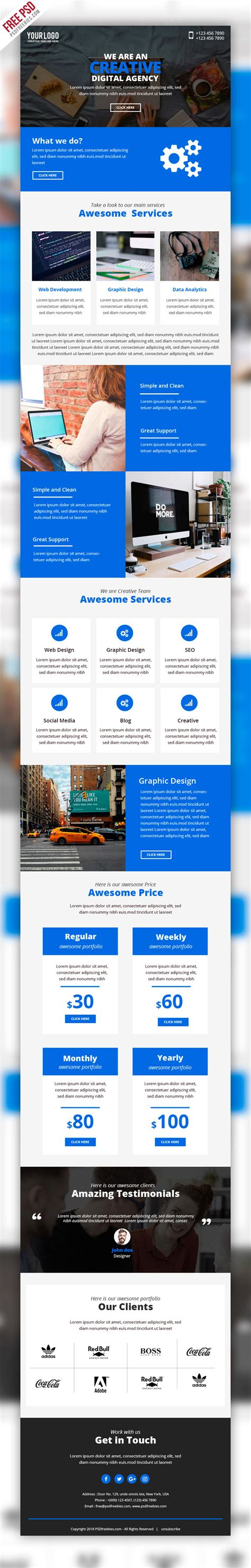 free psd business marketing emailer template psd on behance
