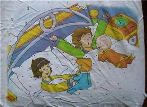 caillou bedding caillou and friend white fabric for pillows u sew it ebay