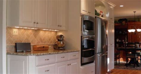 cabinets honey brook custom in maple wood with dove white