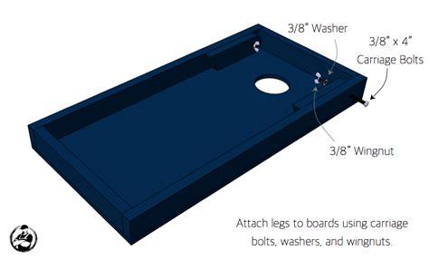 diy cornhole board plans   easy