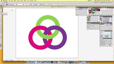tutorial illustrator pathfinder adobe illustrator tutorial linking rings pathfinder