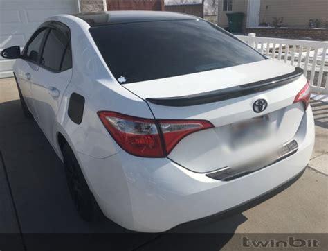 Toyota Corolla Spoiler Black Spoiler Installed Toyota Corolla Forum