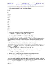 Electrochemistry Tutorial Questions | tutorial 11 electrochemistry tutorial 11 nov 24 28th