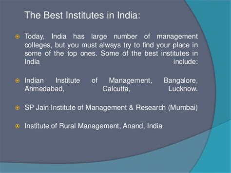 Executive Mba Institutes In India by Management Studies In India Best Institutes To Study