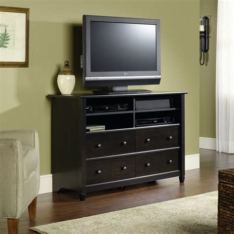 sauder edge water high boy tv stand 409242