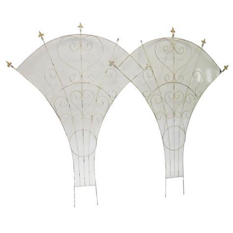 fan shaped garden trellis a pair of fan shaped iron trellises at 1stdibs