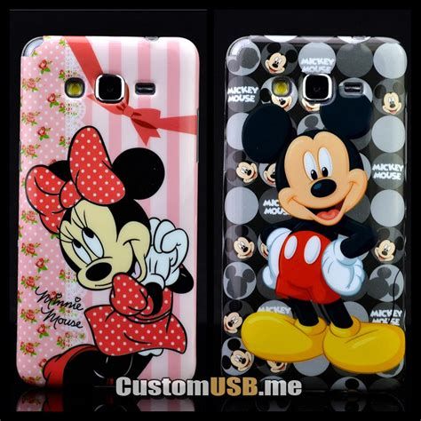 Samsung Grand Prime 3d Silicone Mickey Minnie 1 Mouse Back Cover T19 4 for samsung galaxy grand prime g530 g5308w g530h mickey minnie 3d cover printing soft