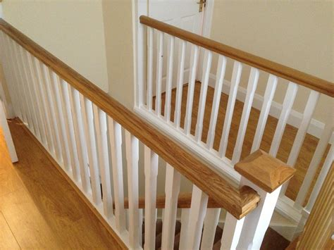 White Spindles Oak Handrail view pictures and photos for glendon carpentry based